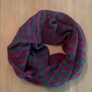 Grey and Maroon infinity scarf